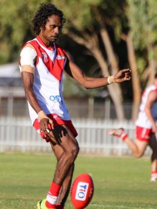 Liam Patrick, having a game with Federals in the Central Australian Football League