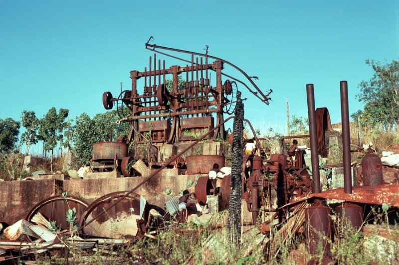 The remnants of the Maranboy Tin Mine, Central Arnhem Hwy http://ozoutback.com.au/Australia/beswick/index.html