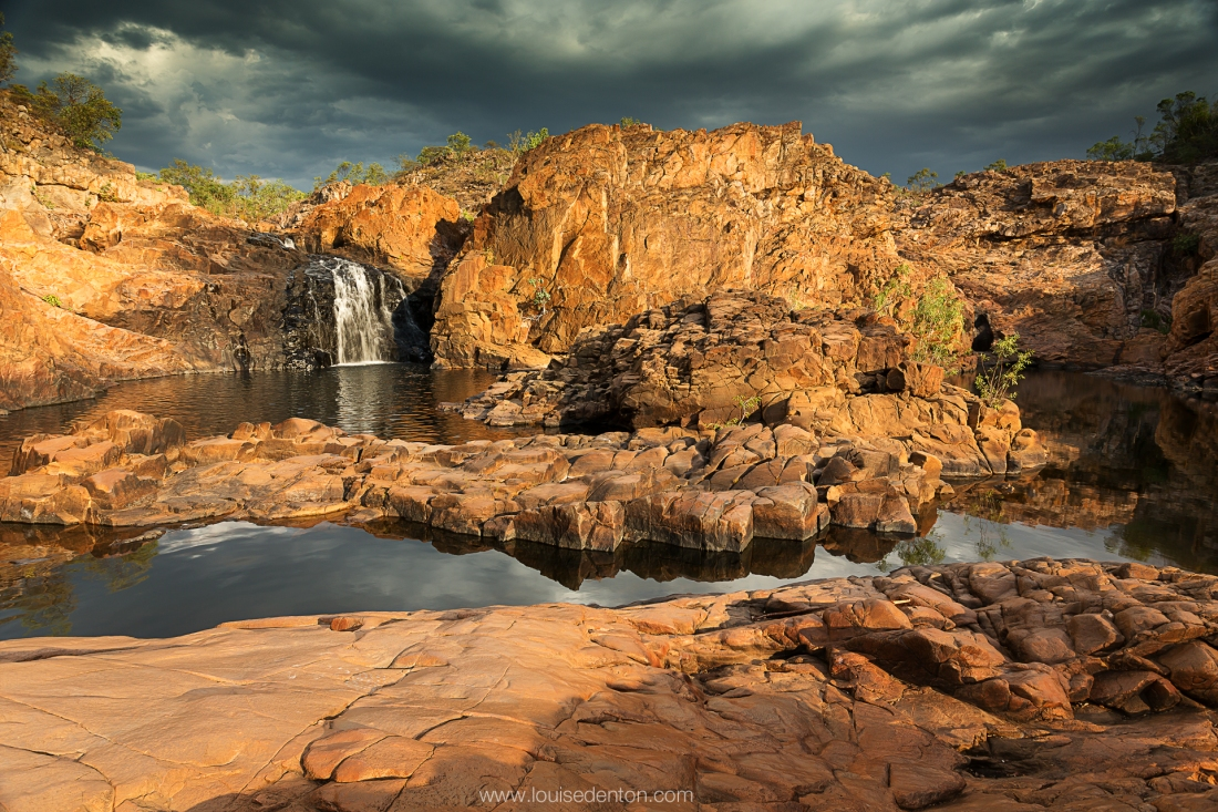 This 2013 photograph by Louise Denton Photography at Edith Falls depicts the rugged beauty of the Northern Territory landscape